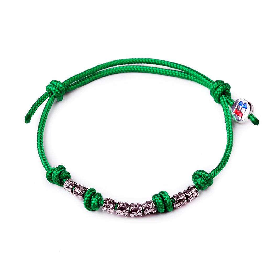 bracciale-con-cordino-e-argento-verde