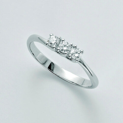 Anello trilogy Miluna oro e diamanti
