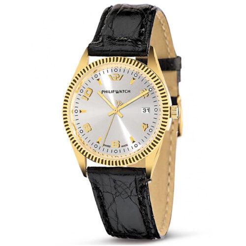 Orologio-Philip-Watch-Caribe-oro-18-kt-pelle-coccodrillo-quadrante–grigio-R8051121015