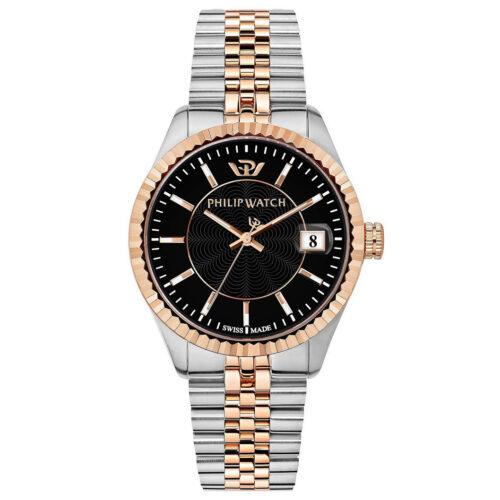 Orologio-Philip-Watch-Cariba-Uomo-Bicolore-Silver-Argento-Oro-Rosa-Da-39-mm-R8253597044
