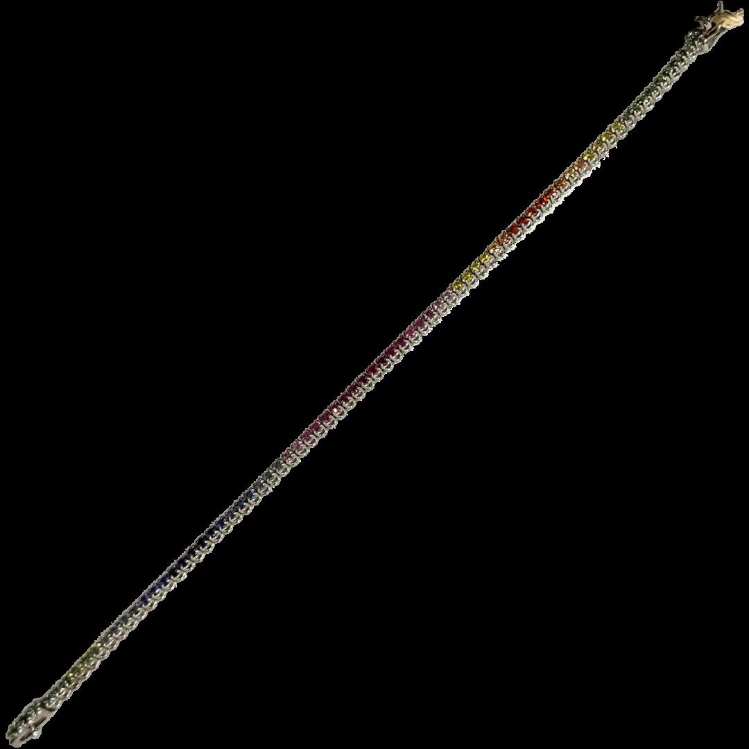 Tennis-arcobaleno-oro-bianco-e-zaffiri-naturali-taglio-brillante